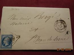 Lettre De 1865 Au Depart De Chatillon/Seine A Destination De St Jean De Losne - Marcophilie (Lettres)