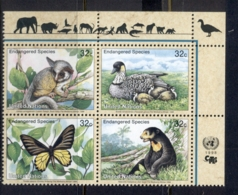 UN New York 1998 Endangered Species MUH - Unused Stamps