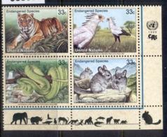 UN New York 1999 Endangered Species MUH - Unused Stamps