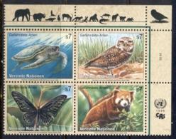 UN Vienna 1998 Endangered Species MUH - Vienna – International Centre