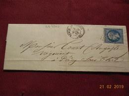 Lettre De 1868 Au Depart De Semur En Auxois A Destination De Precy/Thil - Marcophilie (Lettres)