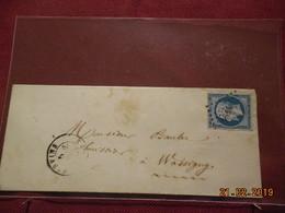Lettre De 1859 Au Depart De Vervins A Destination De Wassigny - Marcophilie (Lettres)