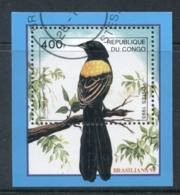 Congo DR 1993 Brasiliana, Bird Of Paradise MS Cto - Democratic Republic Of Congo (1964-71)