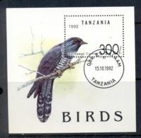 Tanzania 1992 Birds, European Cucoo MS CTO - Tanzania (1964-...)