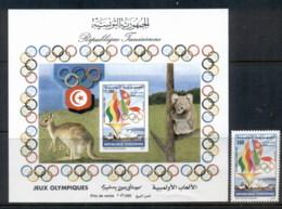 Tunisia 2000 Summer Olympics Sydney + MS MUH - Tunisia
