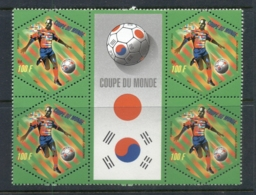 New Caledonia 2002 World Cup Soccer Blk4 + LabelMUH - Unused Stamps