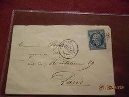 Lettre De 1865 Au Depart De Peronne A Destination De Paris - Marcophilie (Lettres)