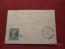 Lettre De 1865 Au Depart De Conde En Barrois A Destination De Cousance Aux Forges - Marcophilie (Lettres)
