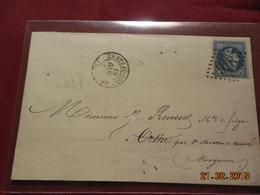 Lettre De 1868 Au Depart De Chateau-Gonthier A Destination De Orthe - Marcophilie (Lettres)