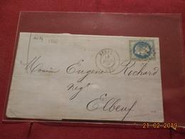 Lettre De 1868 Au Depart De Sedan A Destination De Elbeuf - Marcophilie (Lettres)