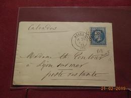 Lettre De 1868 Au Depart De Meaux A Destination De Lion/Mer - Marcophilie (Lettres)