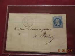 Lettre De 1868 Au Depart De L Isle-Jourdain A Destination De Poitiers - Marcophilie (Lettres)