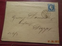Lettre De 1869 Au Depart De Le Havre A Destination De Dieppe - Marcophilie (Lettres)