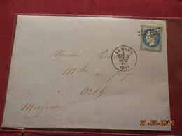 Lettre De 1869 Au Depart De Le Mans A Destination De Orthe - Marcophilie (Lettres)