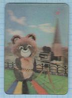 Soviet Union USSR RUSSIA Calendar Olympiad. Moscow Krem Bear Мishka. The Program Of Sports Competitions. Stereo/3D/1980 - Calendars