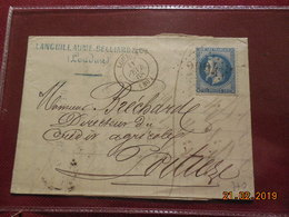Lettre De 1868 Au Depart De Loudun A Destination De Poitiers - Marcophilie (Lettres)