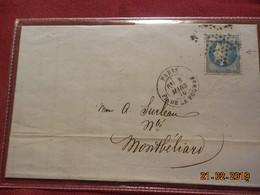 Lettre De 1870 Au Depart De Paris A Destination De Montbeliard - Marcophilie (Lettres)