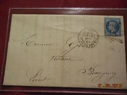 Lettre De 1868 Au Depart De Paris A Destination De Beaugency - Marcophilie (Lettres)