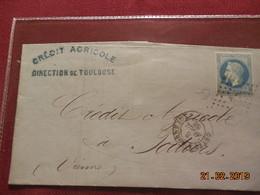 Lettre De 1868 Au Depart De Toulouse A Destination De Poitiers - Marcophilie (Lettres)