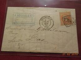 Lettre De 1871 Au Depart De Granville A Destination De Dax - Marcophilie (Lettres)