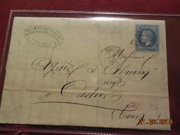 Lettre De 1868 Au Depart De Toulouse A Destination De Castres - Marcophilie (Lettres)