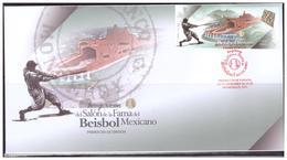 2018 MÉXICO INAUGURACIÓN DEL SALÓN DE LA FAMA DEL BÉISBOL MEXICANO SOBRE PRIMER DÍA, FDC  MEXICAN BASEBALL - Mexique
