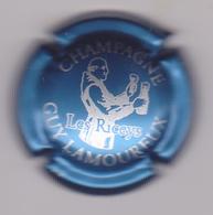 Capsule Champagne LAMOUREUX Guy ( 26i ; Bleu Métallisé Et Blanc ) {S08-19} - Champagne