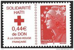 N° 4434 Solidarité Haiti Faciale 20g+0,44 € - Unused Stamps