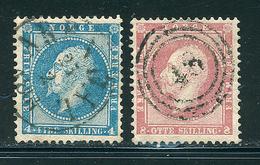 NORVEGE 1856 N° 4 Et 5 Oscar 1er  Tout état Voir Photo - Norwegen