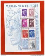 FRANCE 2011 -Bloc Marianne Et L'Europe Bloc De 7 Timbres Marianne Gommés, -F4614 - F 4614 - Blocs & Feuillets