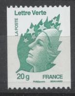 """N° 4597 Marianne De Beaujard """"Lettre Verte"""" Roulette Faciale 20 G - France"""