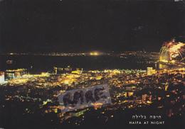 ISRAEL,TERRE SAINTE POUR LES JUIFS,HAIFA,PRES LIBAN,VUE DE NUIT - Israele