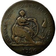 Monnaie, Scotland, Halfpenny Token, 1796, Montrose, TB, Cuivre, Withers:28 - Monnaies Régionales