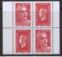 N° 4991 & 4992 Du Carnet N° 1522 Bloc De 4 Faciale 0,76 € X 4 - France