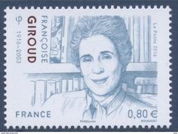 N° 5079 Françoise Giroud Faciale 0,80 € - France