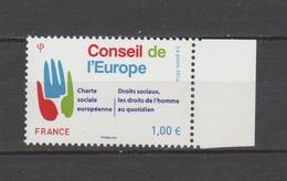 FRANCE / 2016 / Y&T SERVICE N° 168 ** : Conseil De L'Europe (Charte Sociale - Droits Sociaux) - Gomme D'origine Intacte - Service