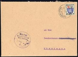1945, Französische Zone Allgemeine Ausgabe, 9, Brief - Französische Zone