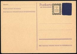 1945, Französische Zone Baden, P C808 T, Brief - Französische Zone