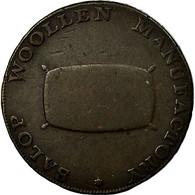 Monnaie, Grande-Bretagne, Shropshire, Halfpenny Token, 1794, Shrewsbury, TB+ - Monnaies Régionales