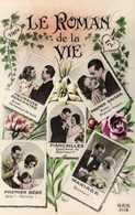 Couple LE ROMAN De La VIE Heureuse Rencontre Premier Baiser Fiancailles Mariage Premier Bébé  RV - Couples