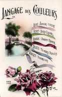 Langage Des Couleurs Rose Amour Tendre Vert Doux Espoit Rouge Ardent Amour Bleu Tendres Pensées Violet Tendresse RV - Altri