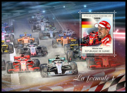 GUINEA REP. 2018 MNH** Formula 1 Formel 1 Formule 1 S/S - OFFICIAL ISSUE - DH1839 - Automovilismo