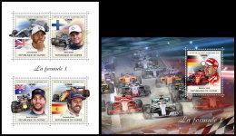 GUINEA REP. 2018 MNH** Formula 1 Formel 1 Formule 1 M/S+S/S - OFFICIAL ISSUE - DH1839 - Automovilismo