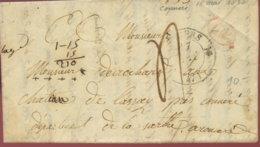 1836 Mouneurs Bf 4 Dec Taxe N. Connere - 1801-1848: Précurseurs XIX