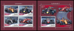 CENTRAL AFRICA 2018 MNH** Formula 1 Formel 1 Formule 1 M/S+S/S - OFFICIAL ISSUE - DH1841 - Automovilismo