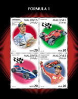 MALDIVES 2018 MNH Formula 1 Formel 1 Formule 1 M/S - OFFICIAL ISSUE - DH1902 - Automovilismo
