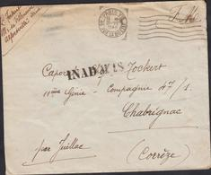 LETTRE EN FRANCHISE MILITAIRE  INADMIS   CACHET DE PARIS DU 30/07/1940 11 GÉNIE - Marcophilie (Lettres)