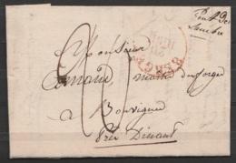 """L. Datée 18 Juin 1830 De SOLRE-sur-SAMBRE Pour BOUVIGNES Près DINANT Càd T11 """"BERGEN /20 JUNI"""" - Man. """"Pont De Sambre"""" - - 1815-1830 (Dutch Period)"""