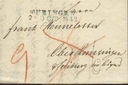 1842 TÜBINGEN Bf M.Taxkorr. N. Freiburg - Deutschland