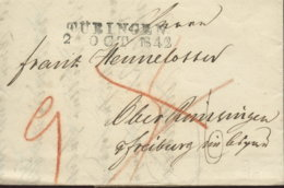 1842 TÜBINGEN Bf M.Taxkorr. N. Freiburg - Germania